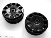 Kyosho Inferno MP9 Black Slotted Rims Wheels