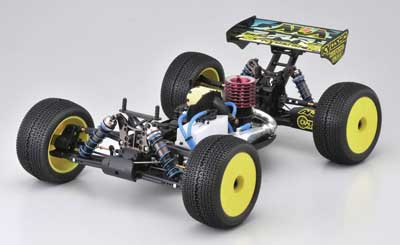 Kyosho Inferno ST-RR EVO Chassis from the Front