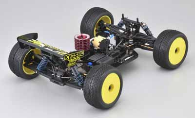 Kyosho Inferno ST-RR EVO Chassis from the Rear