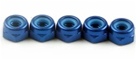 KYO1-N3033NA-B Kyosho Blue Aluminum Nylon Nut M3x3.3mm - Package of 5