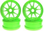 KYOIF139KG Kyosho 10 Spoke Wheels - Green - Package of 2