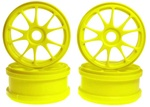 KYOIF139KY Kyosho 10 Spoke Wheels - Yellow - Package of 2