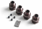 KYOIFW328GM Kyosho Inferno ST-RR EVO 14mm Gunmetal Wheel Hubs - Package of 4