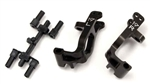 KYOIFW461 Kyosho Inferno MP9 Aluminum Front Hub Carrier Set 19° Gunmetal - Left and Right