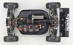 Kyosho Inferno MP9E Brushless Buggy Chassis Overhead View