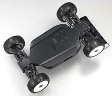 Kyosho Inferno MP9E Brushless Buggy Black Chassis from bottom