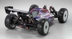 Kyosho Inferno MP9E Brushless Buggy Rear View with Body
