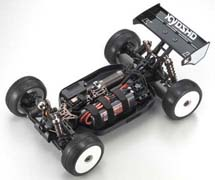 Kyosho Inferno MP9E Brushless Buggy Chassis Front View High
