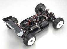 Kyosho Inferno MP9E Brushless Buggy Chassis Rear View High