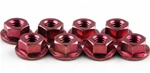 KYO1-N4045F-R Kyosho Red Steel Flanged Nut M4x4.5mm - Package of 10