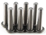 KYO1-S13015HT Kyosho Titanium Button Hex Screw M3x15mm - Package of 8