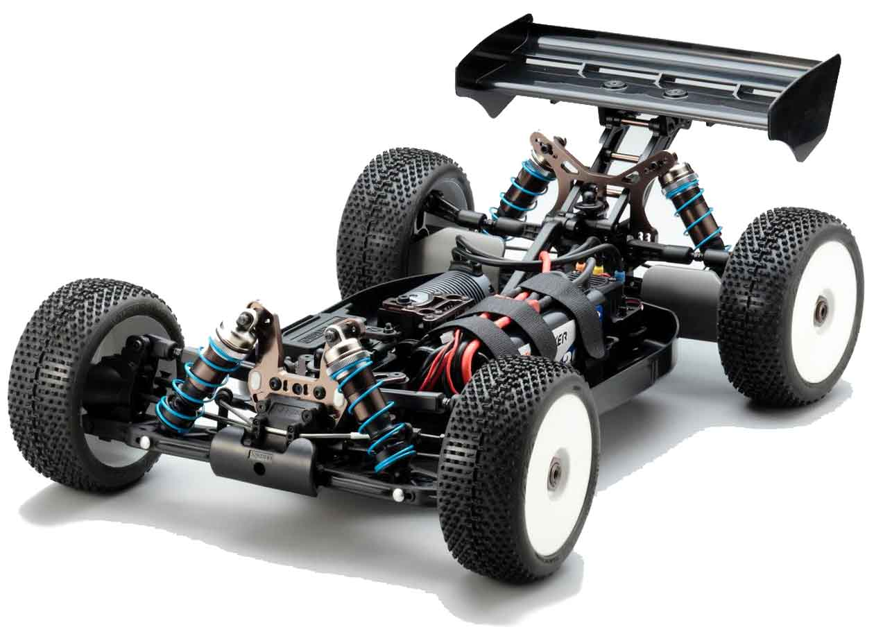 Kyosho Inferno MP9e TKI Chassis Shot