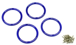 KYOEZW003BL Kyosho EZ Series Blue Aluminum Wheel Bead covers - Package of 4