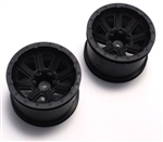 KYOFAH301BK Kyosho Rage VE Black Wheel - Package of 2