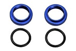 KYOFM364BL Kyosho Blue Shock Adjuster Nut with O-Rings - Package of 2