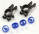 KYOIF490 Kyosho Inferno MP9 TKi4 Aluminum Rear Hub Carrier Gunmetal, 2mm Offset - Left and Right