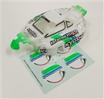 KYOIFB131T1W Kyosho Inferno MP9 TKI3 Readyset Painted Body Set White and Green