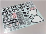 KYOIFD502 Kyosho MP9 TKI4 Decal Sheet