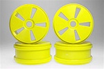 Kyosho Dish Wheels - Yellow