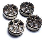 KYOIFH005BC Kyosho Inferno NEO 2.0 Black Chrome Wheels - Package of 4