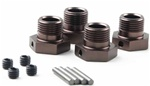 KYOIFW107GM Kyosho Inferno MP9 Wheel Hub 7075 Aluminum in Anodized Gunmetal - Package of 4