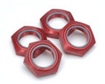 KYOIFW336R Kyosho Inferno Nylon Locking 17mm Wheel Nut Red Anodized 7075 Aluminum