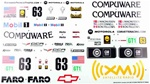 KYOIGB152-1 Kyosho Inferno GT2 Chevrolet Corvette C6-R Sponsor Decal Sheet