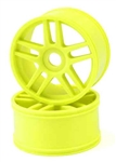 KYOIGH005KY Kyosho Inferno GT Yellow 10 Spoke Wheels Package of 2