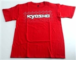 KYOKA10002SL Kyosho K Fade Short Sleeve T-Shirt Red Size L