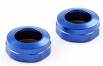 KYOW5303-02BL Kyosho Big Bore Triple Cap Shock Cap Blue Aluminum - Package of 2