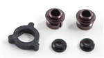 KYOW5303-04GM Kyosho Big Bore Triple Cap Shock Seal Cartridges Gunmetal Aluminum - Package of 2