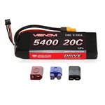 VNR15008 Venom 2s 7.4V 5400mAh 20C 2-CELL LiPo Battery with Universal Connectors